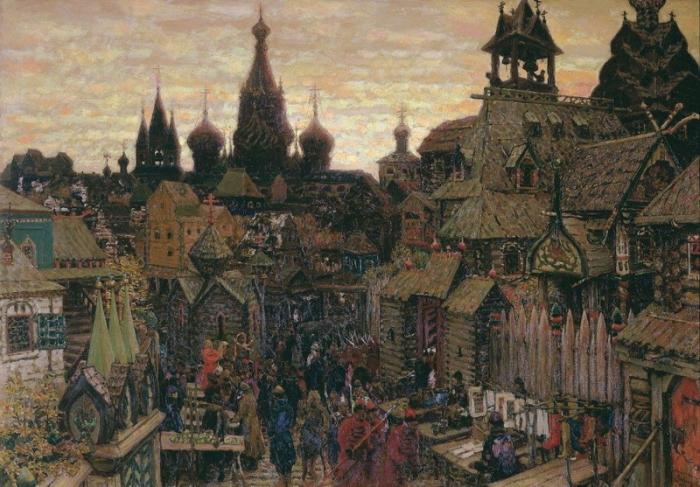 Улица в китай городе начало xvii века