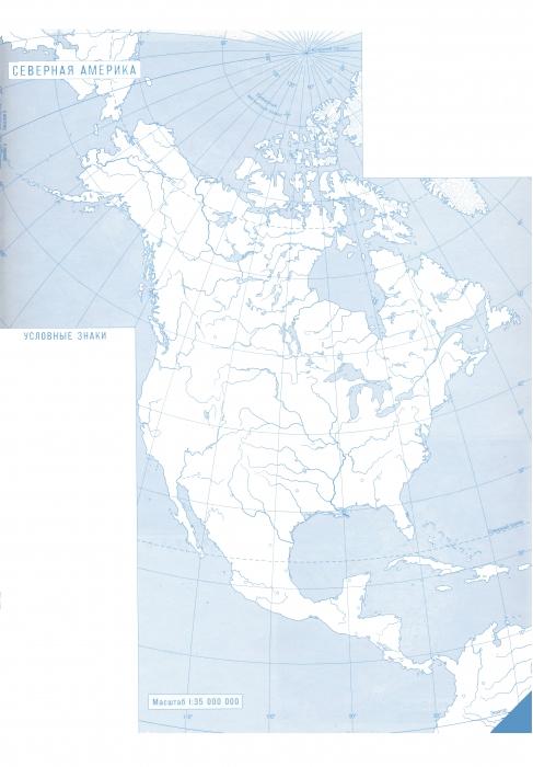7 контурная америка карта северная по географии гдз