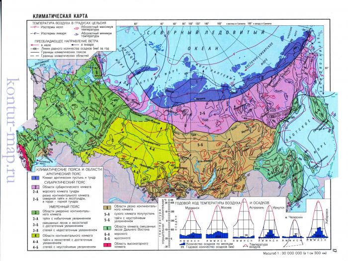 Климатическая карта Российской Федерации. Географический ...: http://rexstar.ru/content/id45491