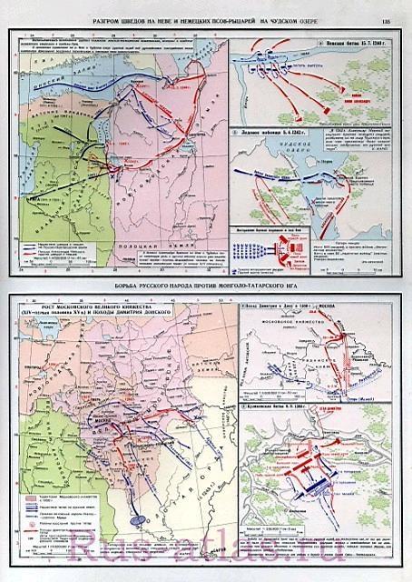 Карта Ледового побоища.